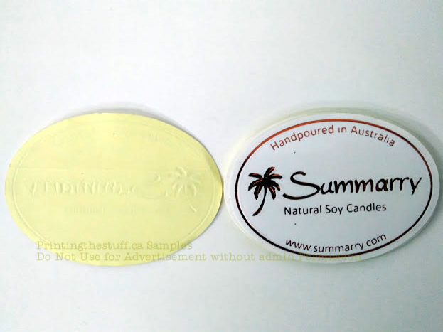 Custom oval stickers printing canada