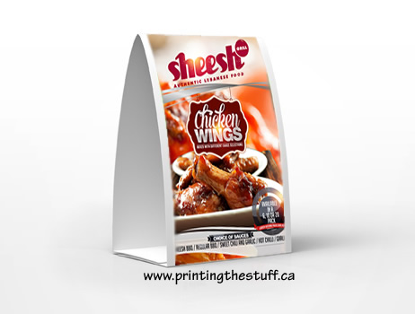 Table Tents Vinyl Sticker Printing Online PrintingTheStuff Canada - Table tent printing