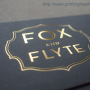 Gold Foil on Black Card Stock