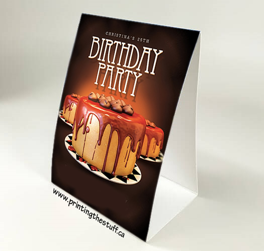 Table Tents Vinyl Sticker Printing Online PrintingTheStuff Canada - How to print table tents