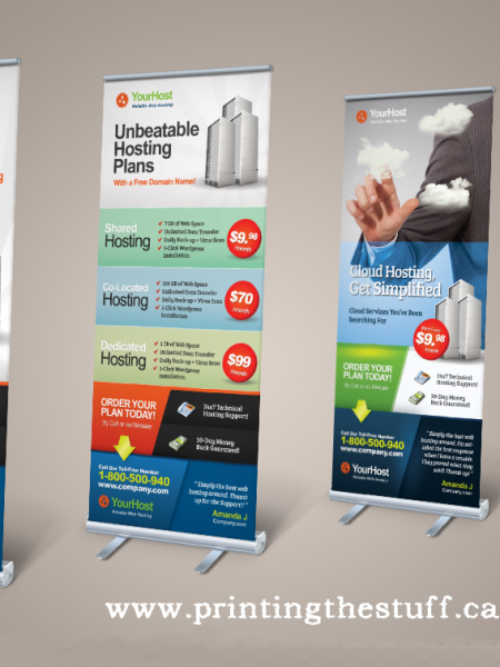multiple size banner stands Canada