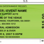 Large Format Event Tickets Printing Canada
