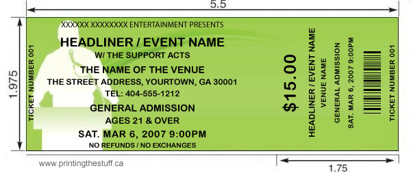 Event Tickets – How to Design a Ticket for an Event