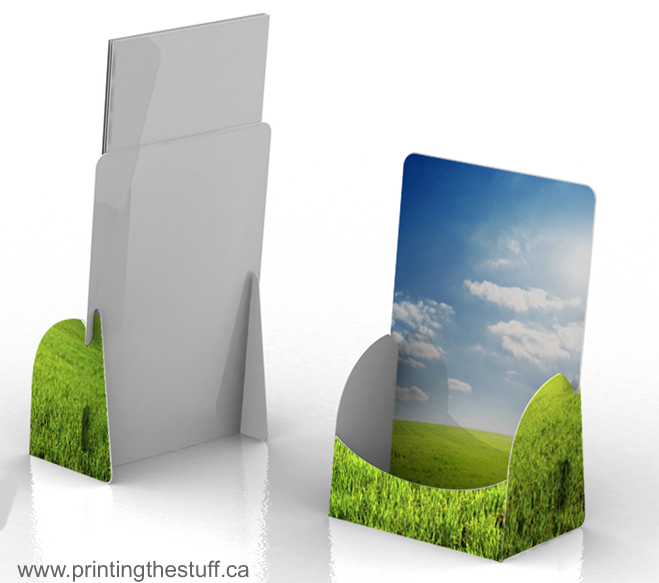 full colour printed brochure holder canada