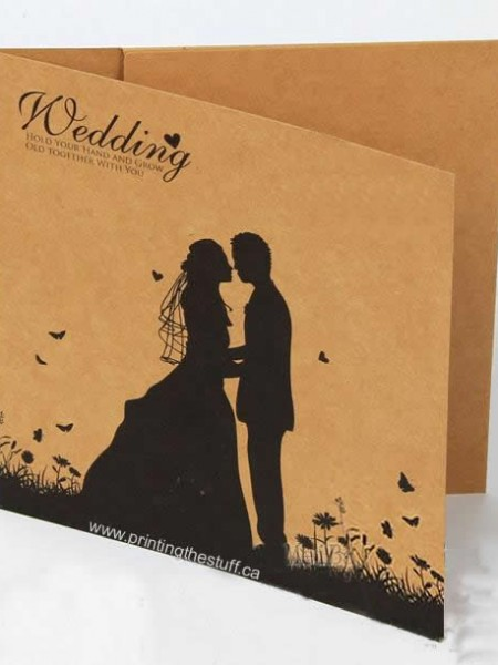 Custom Kraft Wedding CD Jacket Mississauga
