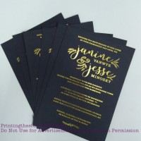 Wedding Invitation foil Stamping Vancouver