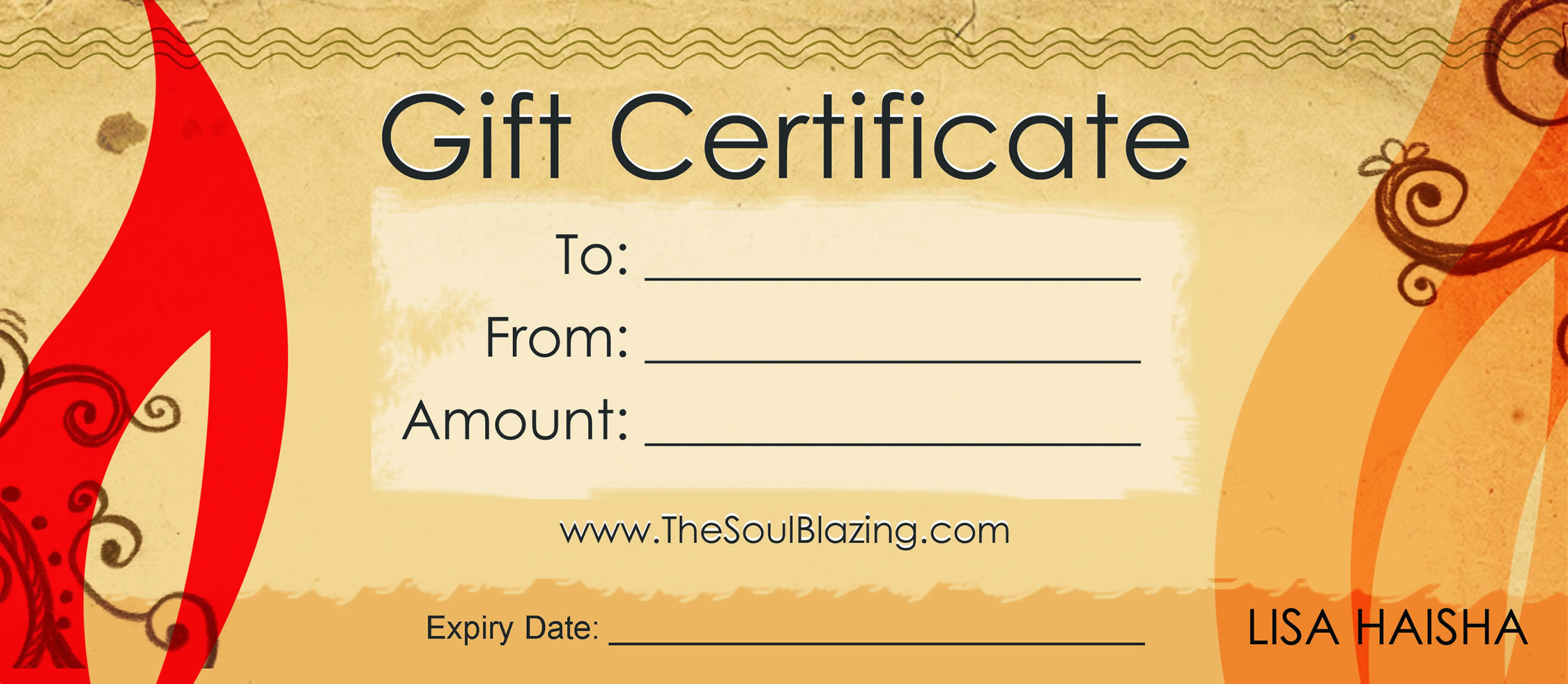 gift certificate free