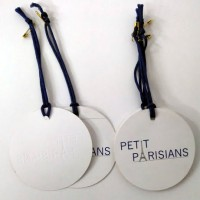 Embossed Swing Tags with Safety Pins