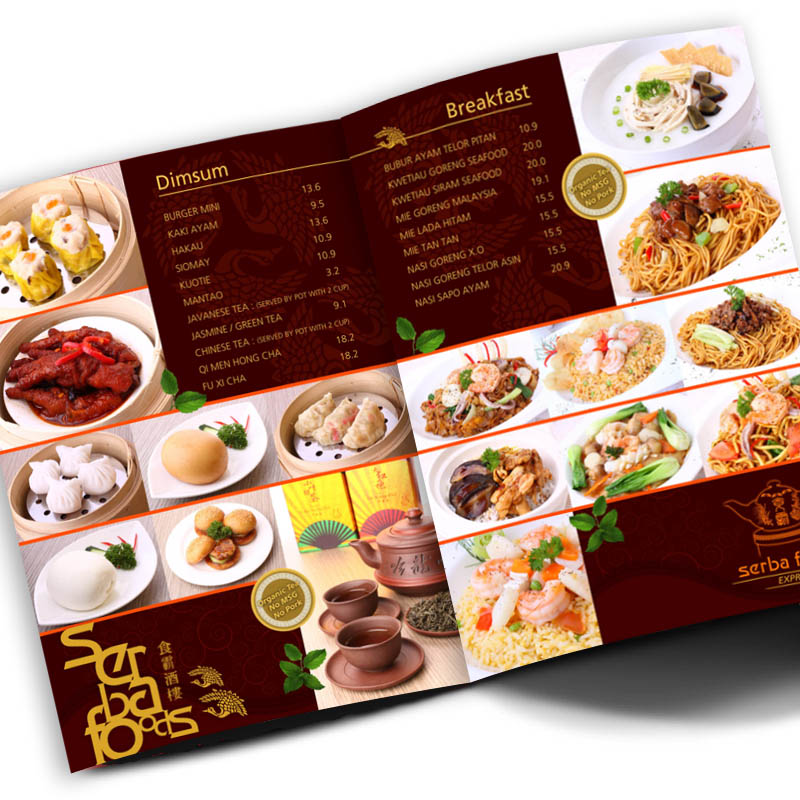 Menus vinyl sticker printing online printingthestuff for Asian cuisine books